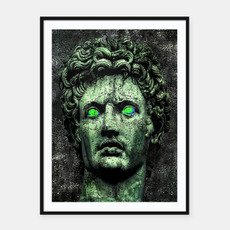 Thumbnail image of Angry Caesar Augustus Photo Manipulation Portrait Framed poster, Live Heroes