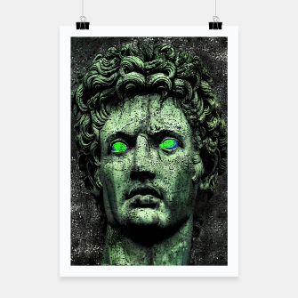 Thumbnail image of Angry Caesar Augustus Photo Manipulation Portrait Poster, Live Heroes