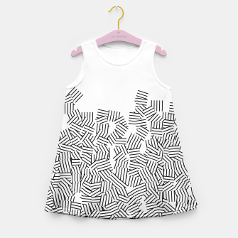 Thumbnail image of Minimal modern art  Girl's summer dress, Live Heroes