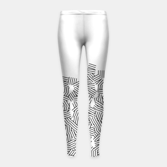 Thumbnail image of Minimal modern art  Girl's leggings, Live Heroes