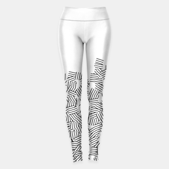 Thumbnail image of Minimal modern art  Leggings, Live Heroes
