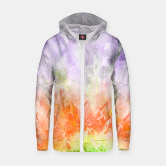 Thumbnail image of Divine Floral Cotton zip up hoodie, Live Heroes