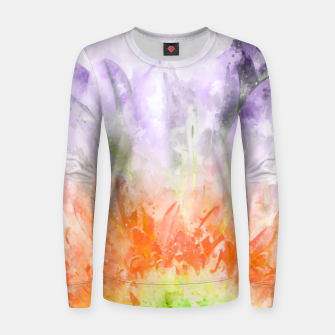 Thumbnail image of Divine Floral Woman cotton sweater, Live Heroes