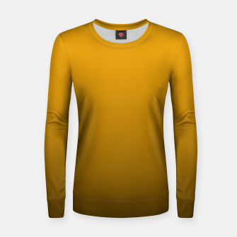 Miniatur Pale Pumpkin Orange and Black Deadly Ombre Nightshade Woman cotton sweater, Live Heroes