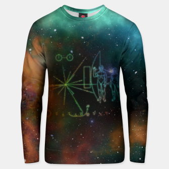 Miniatur Nasa Pioneer Craft Alien Food Map Nebula Cotton sweater, Live Heroes