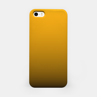 Miniatur Pale Pumpkin Orange and Black Deadly Ombre Nightshade iPhone Case, Live Heroes