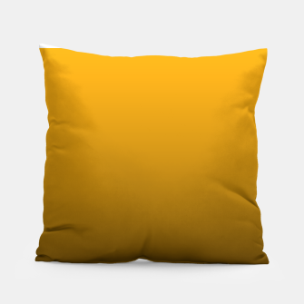 Miniatur Pale Pumpkin Orange and Black Deadly Ombre Nightshade Pillow, Live Heroes