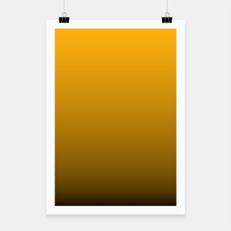 Miniatur Pale Pumpkin Orange and Black Deadly Ombre Nightshade Poster, Live Heroes