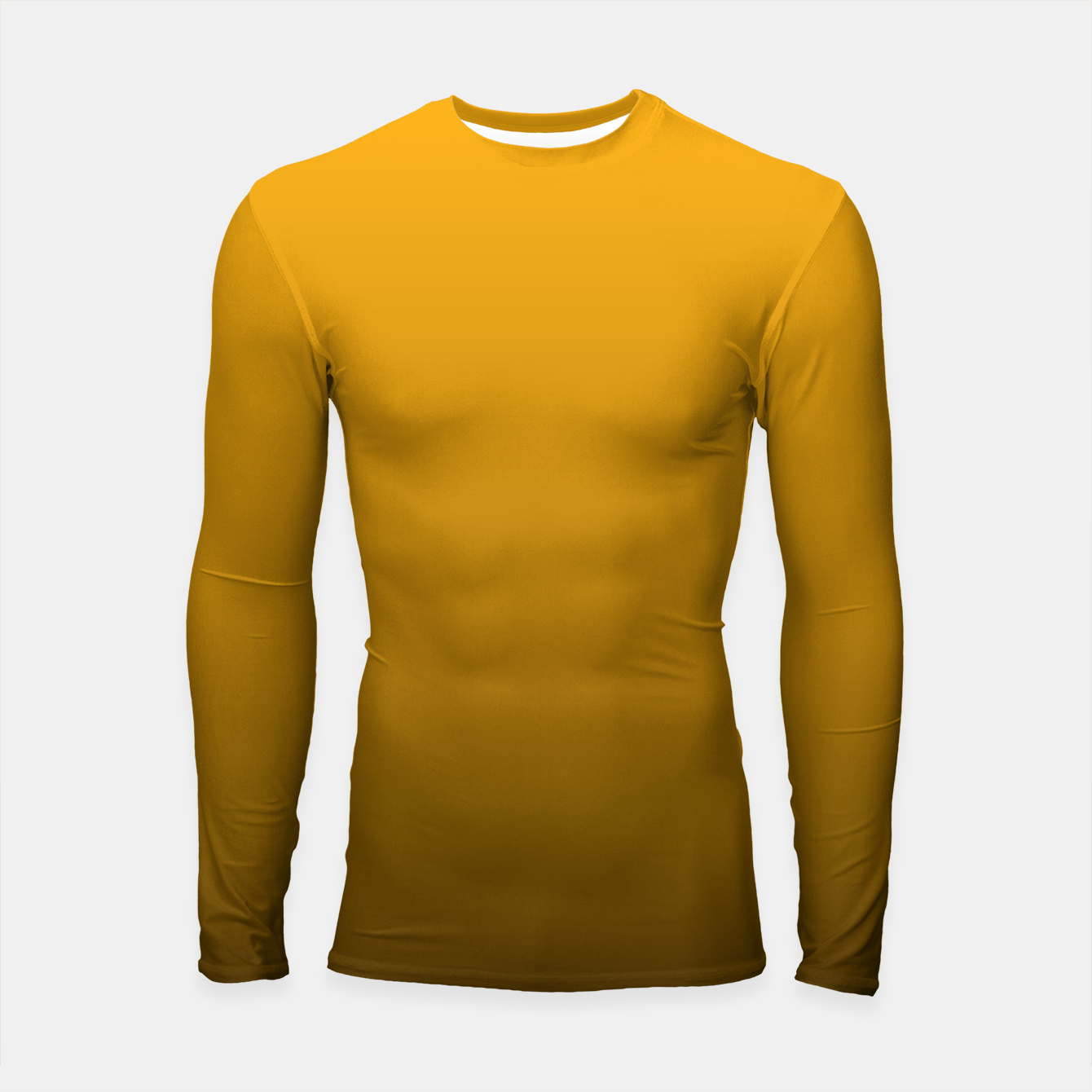 Foto Pale Pumpkin Orange and Black Deadly Ombre Nightshade Longsleeve rashguard  - Live Heroes