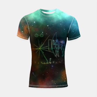 Miniatur Nasa Pioneer Craft Alien Food Map Nebula Shortsleeve rashguard, Live Heroes