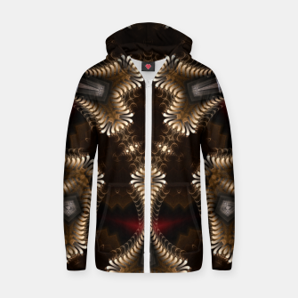 Thumbnail image of The Golden Trilacan Cotton zip up hoodie, Live Heroes