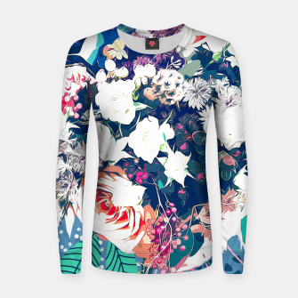 Thumbnail image of Bouquet Woman cotton sweater, Live Heroes