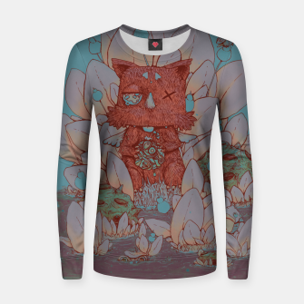 Thumbnail image of Sky's Have Fallen Woman cotton sweater, Live Heroes