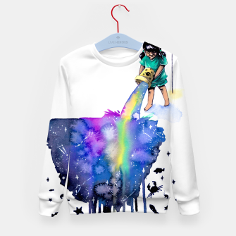 Thumbnail image of sea creatures Kid's sweater, Live Heroes