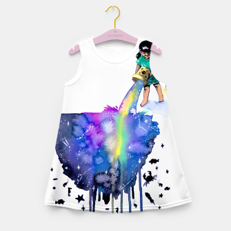 Thumbnail image of sea creatures Girl's summer dress, Live Heroes