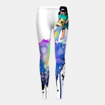 Thumbnail image of sea creatures Girl's leggings, Live Heroes