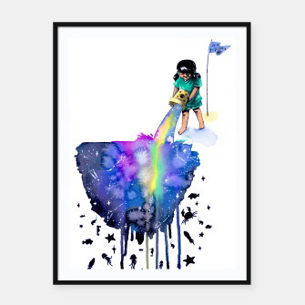 Thumbnail image of sea creatures Framed poster, Live Heroes
