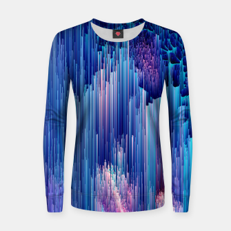 Miniatur Beglitched Waterfall - Pixel Art Woman cotton sweater, Live Heroes