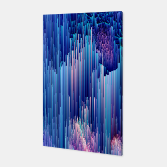 Miniatur Beglitched Waterfall - Pixel Art Canvas, Live Heroes