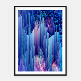 Miniatur Beglitched Waterfall - Pixel Art Framed poster, Live Heroes