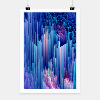 Miniatur Beglitched Waterfall - Pixel Art Poster, Live Heroes