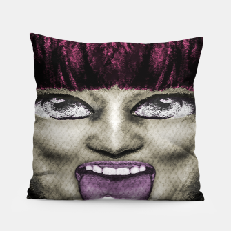 Thumbnail image of Daring Pop Teen Portrait Pillow, Live Heroes