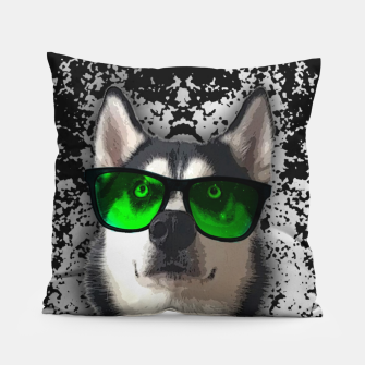 Thumbnail image of husky in goggles Poduszka, Live Heroes