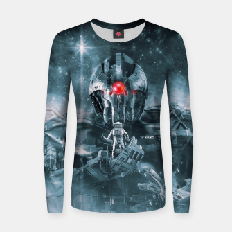 Thumbnail image of Audience With The Titan Woman cotton sweater, Live Heroes