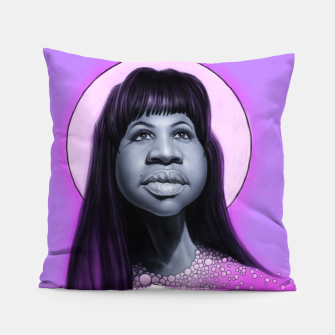 Thumbnail image of Aretha Franklin Pillow, Live Heroes