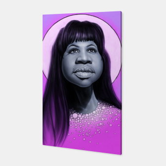 Thumbnail image of Aretha Franklin Canvas, Live Heroes