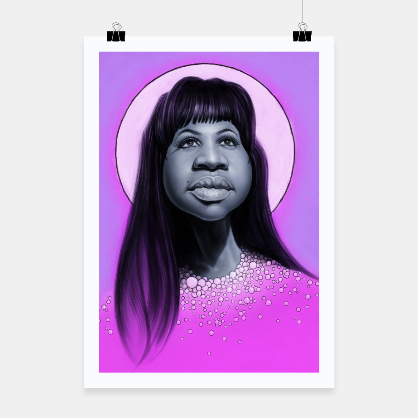 Image of Aretha Franklin Poster - Live Heroes