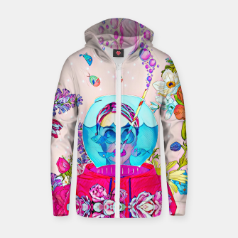 Thumbnail image of Under the dome Cotton zip up hoodie, Live Heroes