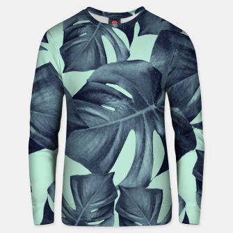 Thumbnail image of Monstera Leaves Pattern #10 #tropical #decor #art Baumwoll sweatshirt, Live Heroes
