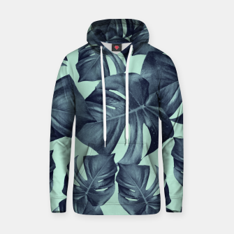 Thumbnail image of Monstera Leaves Pattern #10 #tropical #decor #art Baumwoll Kapuzenpullover, Live Heroes