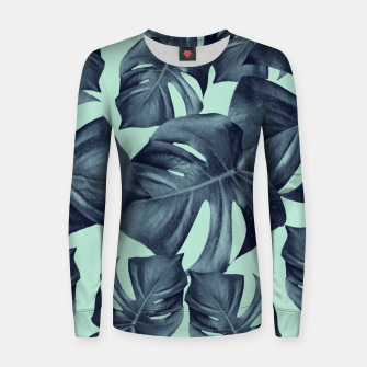 Thumbnail image of Monstera Leaves Pattern #10 #tropical #decor #art Frauen baumwoll sweatshirt, Live Heroes