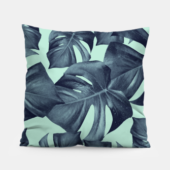 Thumbnail image of Monstera Leaves Pattern #10 #tropical #decor #art Kissen, Live Heroes