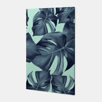 Thumbnail image of Monstera Leaves Pattern #10 #tropical #decor #art Canvas, Live Heroes