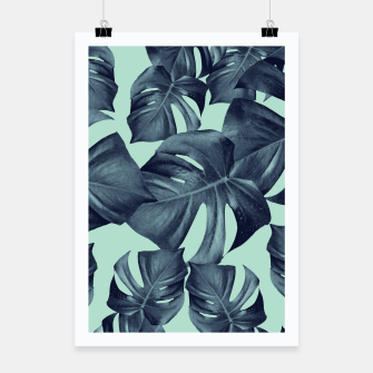 Thumbnail image of Monstera Leaves Pattern #10 #tropical #decor #art Plakat, Live Heroes