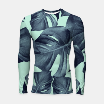 Thumbnail image of Monstera Leaves Pattern #10 #tropical #decor #art Longsleeve rashguard, Live Heroes