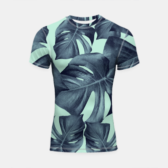 Thumbnail image of Monstera Leaves Pattern #10 #tropical #decor #art Shortsleeve rashguard, Live Heroes