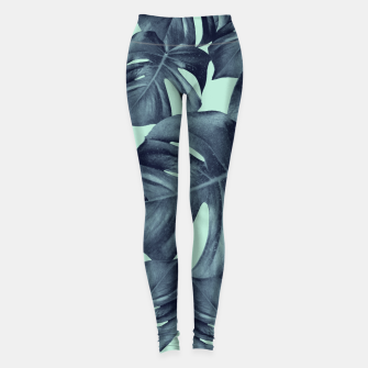Thumbnail image of Monstera Leaves Pattern #10 #tropical #decor #art Leggings, Live Heroes