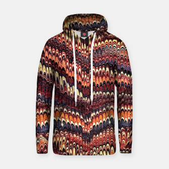 Thumbnail image of Marbled Vintage Earthtone Cotton hoodie, Live Heroes