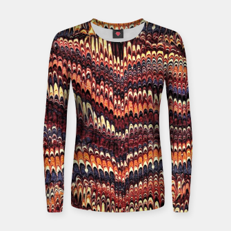 Thumbnail image of Marbled Vintage Earthtone Woman cotton sweater, Live Heroes