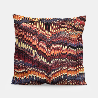 Thumbnail image of Marbled Vintage Earthtone Pillow, Live Heroes