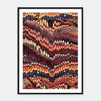 Thumbnail image of Marbled Vintage Earthtone Framed poster, Live Heroes