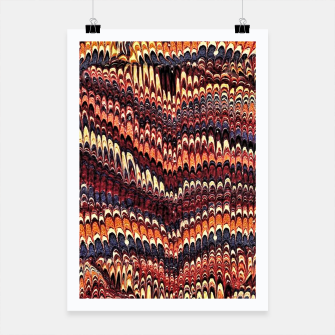 Thumbnail image of Marbled Vintage Earthtone Poster, Live Heroes