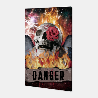 Thumbnail image of DANGER GOTHIC SKULL Canvas, Live Heroes