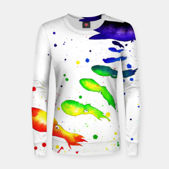 Thumbnail image of squid attack Woman cotton sweater, Live Heroes