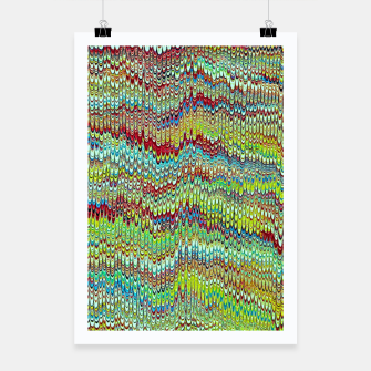 Miniaturka Cool Green Marbled Poster, Live Heroes