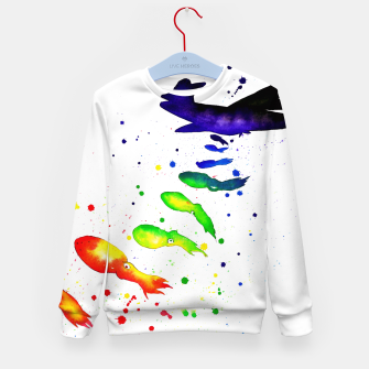 Thumbnail image of squid attack Kid's sweater, Live Heroes